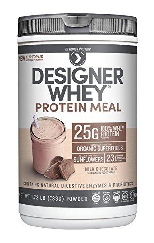Designer Protein Designer Whey Protein Meal, Milk Chocolate, 1.72 Pound