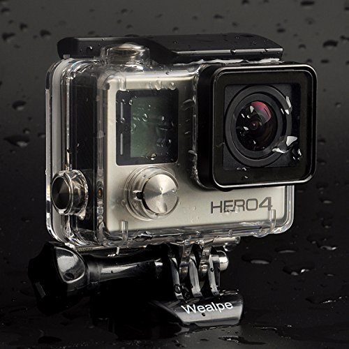 Wealpe Waterproof Housing Case Underwater Protective Dive Housing Compatible with GoPro Hero 4, 3+, 3 Cameras