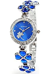 Luxury Lady Kimio Watch 2013 New Gift USPS Send 3-5 Days Get K456L (Blue Color)