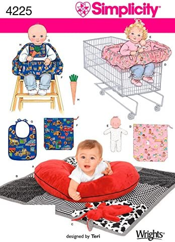 Simplicity babies swim diaper changing pad play mat stroller cover neck pillow Sewing Pattern #1481 Sizes A babies all sizes included