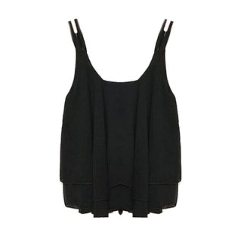 Fanessy Sexy Frauen Tank Doppelschicht ärmellos Bluse Chiffon Lose Tops Blusen T-shirt Tunika damen elegant
