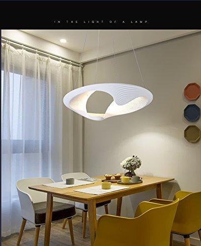 LED Suspension Cable Chandelier Aluminum Amaze Hollow Shell Ceiling Light Pendant Fixture Linear (21 inch) by Modin Home Inc