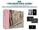 BTS BANGTAN BOYS - You Never Walk Alone [LEFT + RIGHT ver. SET] CD+Photobook+Photocard+2 Official Folded Poster+1 Extra Photocard set