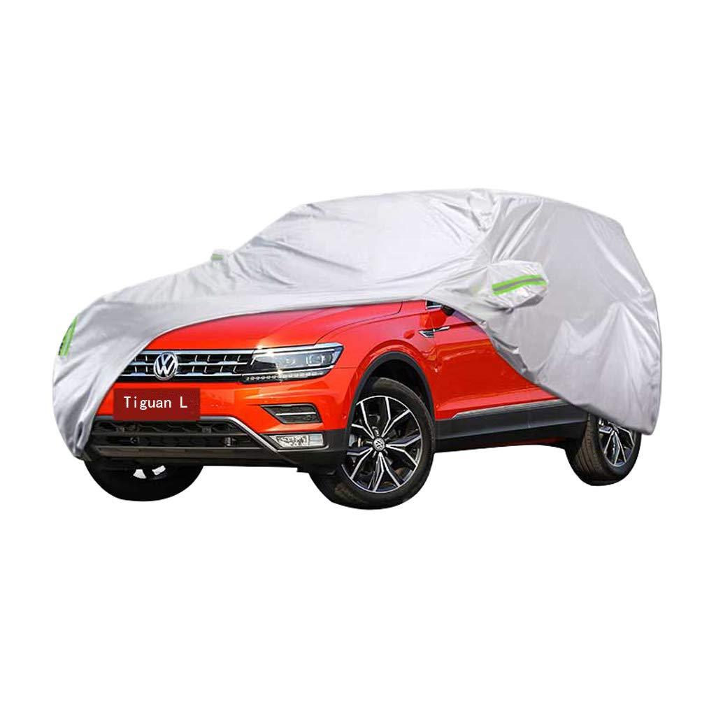 Couverture de voiture Couverture de voiture SUV Volkswagen Tiguan L Couverture de voiture é pais Oxford Tissu Protection contre le soleil Couverture anti-pluie et anti-poussiè re Vê tements de couverture CXSM-Couverture de voiture