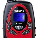 Retevis RT628 Walkie Talkies para niños 22 canales FRS Toy para niños UHF 462.550- 467.7125MHz 2 Way Radio Toy (Rojo, 2 paquetes)