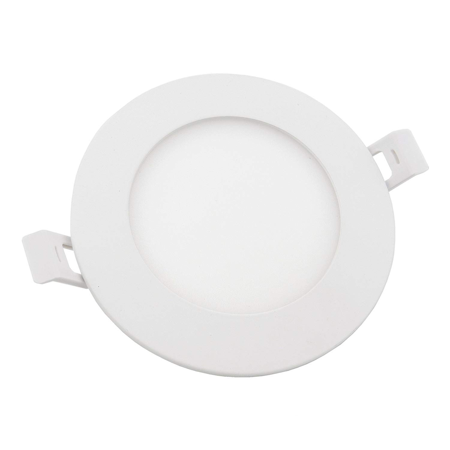 YG 9W 4Inch LED Dimmable Recessed Potlight ETL Energy Star 750LM IC Rated Slim Panel Lighting,LED Ceiling Light with Junction Box 6 Pack(Round - Neutral White)