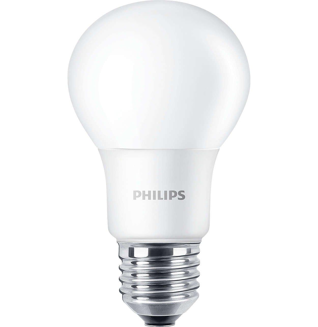 Led Givré Sans Ampoule A60 Corepro Variateur D'intensité Philips 3jALq5R4