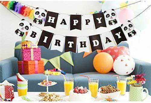 Amosfun Feliz cumpleaños Panda Decoraciones Set para niños ...