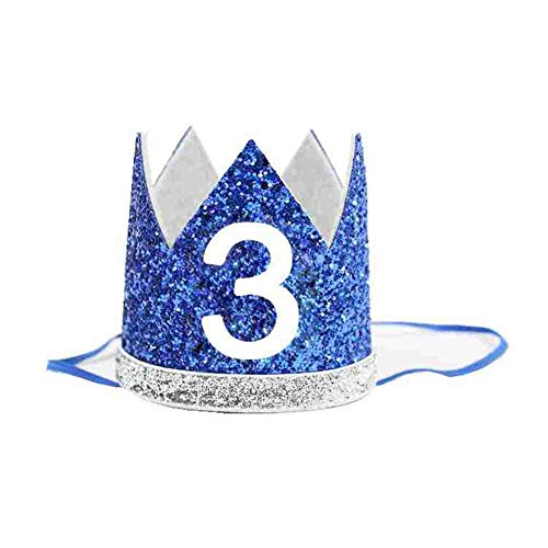 3rd Baby Boy Birthday Crown Headband Prince Party Hat Hairband Photo - Hat Thirds