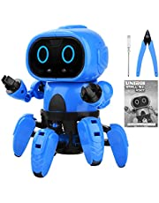 UNIROI Robot Toy for Kids, DIY Assembly Smart Robot Kids Gift with 6 Legs, Gesture Sensing, Following & Obstacle Avoidance Mode UD038