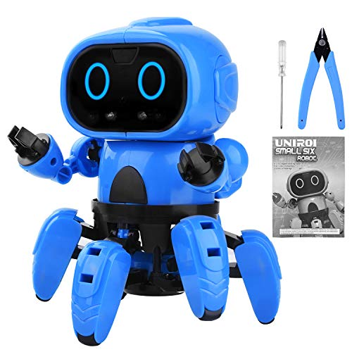 UNIROI Robot Toy for Kids, DIY Assembly Smart Robot Kids Gift with 6 Legs, Gesture Sensing, Following & Obstacle Avoidance Mode UD038 ()