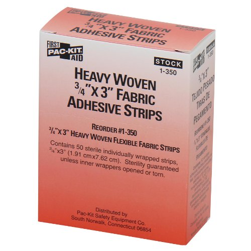 "Pac-Kit 1-350 Heavy Woven Bandage, 3"" Length x 3/4"" Width (Box of 50)"