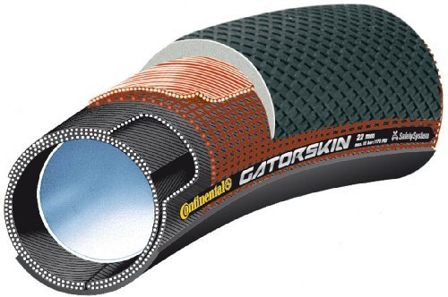 Continental Sprinter GatorSkin Tubular Road Bicycle Tire (28x22, Tubular, Black) by Continental