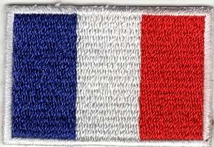 Parche para planchar Iron on patches applikation Francés Bandera Francia