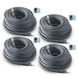 REVO America 60-Feet RJ12 Cable with Connectors (Pack of 4)