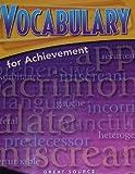 Vocabulary for Achievement Fourth Course, Margaret Ann Richek, 0669517585