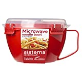 Sistema Microwave Cookware Noodle Bowl, 31.7 Ounce/4 Cup, Assorted Colors