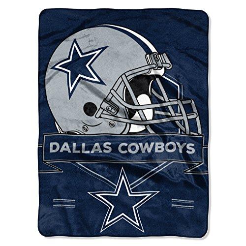 NFL Dallas Cowboys Prestige Plush Raschel Blanket, 60