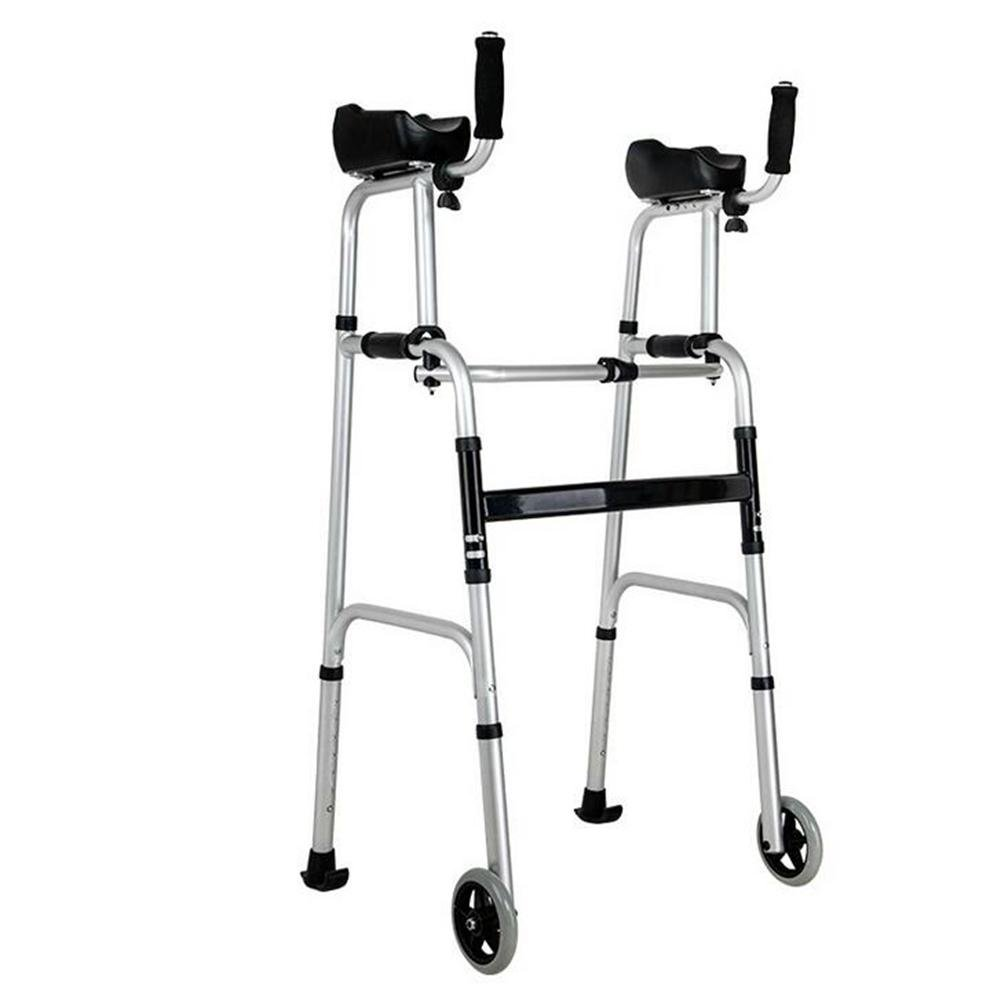 JIN Elderly Walker Aluminum Alloy Arms Support Can Take A Bath Telescopic Non-Slip Medical Insurance Walker