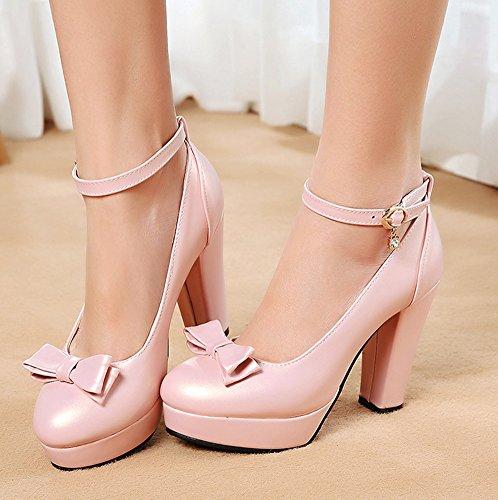 Rose Aisun Escarpins Demoiselle Elégant D'honneur Mariage Chaussures 4j35LARq