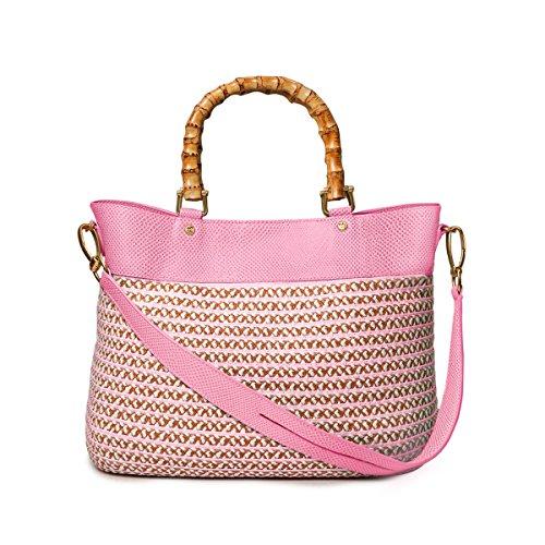 Eric Javits Straw Cap - Eric Javits Luxury Fashion Designer Women's Handbag - Analu - White/Pink/Mix