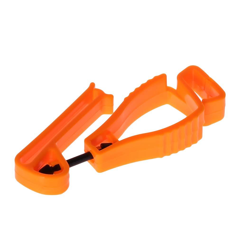 Dabixx Kunststoff-Handschuhclip Gelb Kunststoff-Handschuh-Clip mit Schutzhalterung Sicherheits-Arbeitshandschuhe Utility Guard Clip