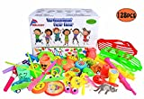 ebuddy 128Pc Carnival Prizes Toy Assortment for Kids Party Favor, Birthday Party, School Classroom Rewards, Pinata, Christmas, Festival and