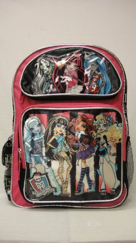 "Monster High Large 16"" Backpack - Pink with List of Atoms on the Side"