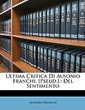 Ultima Critica Di Ausonio Franchi, [Pseud ], Ausonio Franchi, 1148177078