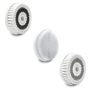 Amazon.com: Replacement Brush Head 3 Pieces (Soft, Silicone and Exfoliating Brush), Compatible with F02 Sonic Facial Cleansing System for All Skin Types ...