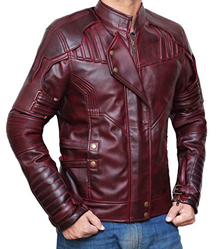 Star Lord Costume Jacket Guardians Of The Galaxy Vol. 2 | Waxed brown, XXL by Decrum (Image #2)