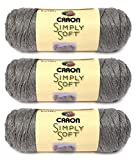 Simply Soft Heather Yarn-Soft Grey (3-pack)