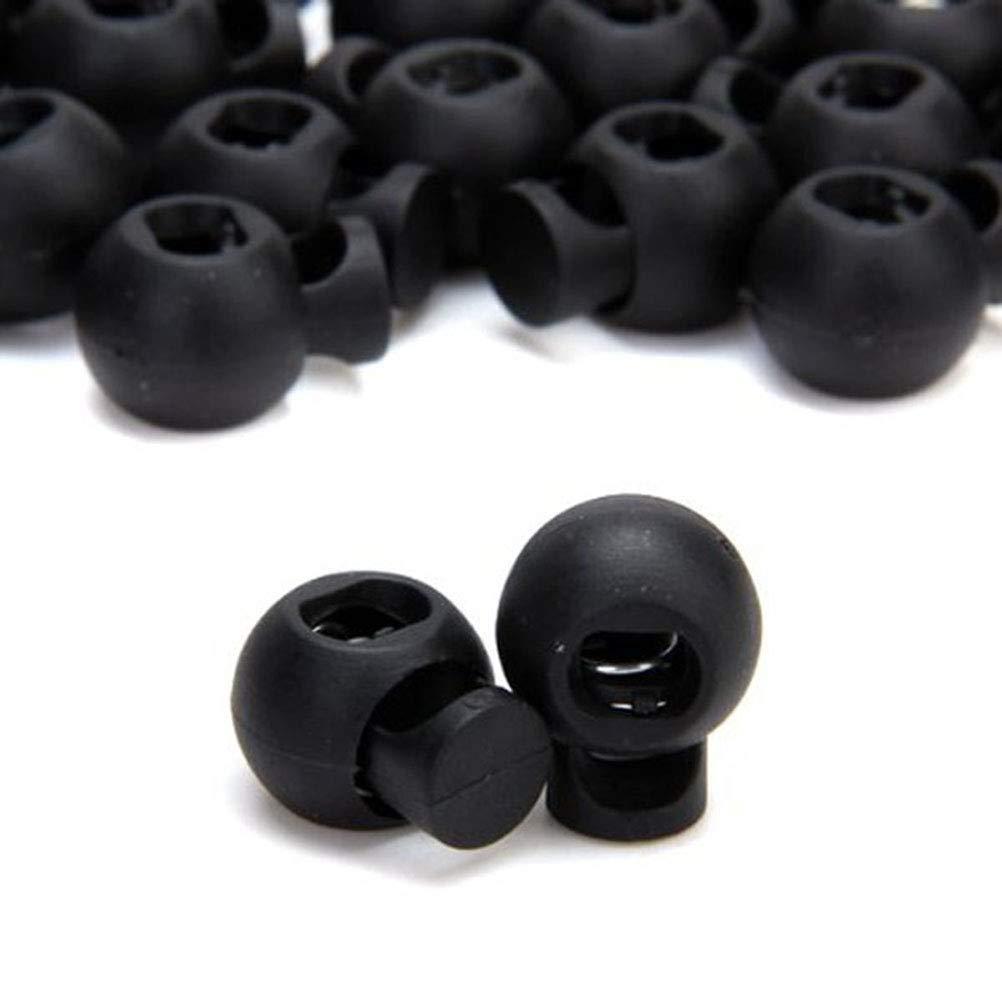 SUPVOX 25pcs Bouchons /à Ressort en Plastique Bascule Les verrous de Cordon pour Cordons Noir