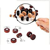 3 Pairs/Pack Wood Cheater Fake Ear Plugs Gauges