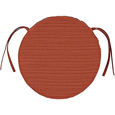 Bullnose Round Outdoor Chair Cushion, 1.5 Hx15 DIAMETER, PAPAYA SUNBRELLA
