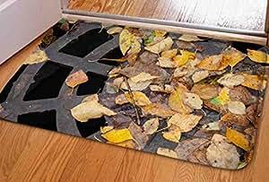 ouliu 3deffectnatural fibras Felpudo–Felpudo de entrada (Floor Mat Alfombra para interiores/para exteriores/baño alfombrillas antideslizantes