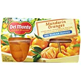 Del Monte Mandarin Orange, No Sugar Added (4-ounce), 4-Count Packages (Pack of 6)