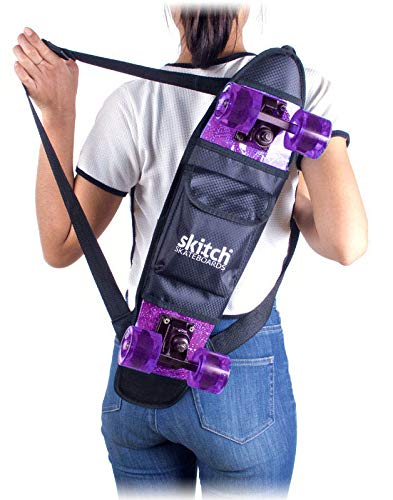 "Skitch 22"" Mini Skateboard Backpack - Bag for All 22 Inch Mini Cruiser Boards with Adjustable Straps and Skate Tool Pocket (Backpack Only)"