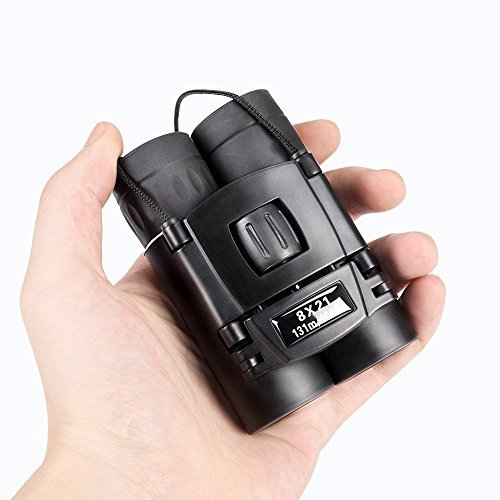 8x21 Small Compact Lightweight Binoculars For Concert Theater Opera. Anyprize Mini Pocket Folding Binoculars Fully Coated Lens For Travel Adults Kids.