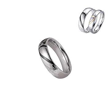 e35c8413a3 TLEEYUS 2019 New Fashion Couple Ring, Classic Minimalist Design Titanium  Steel Heart-Shaped Unisex