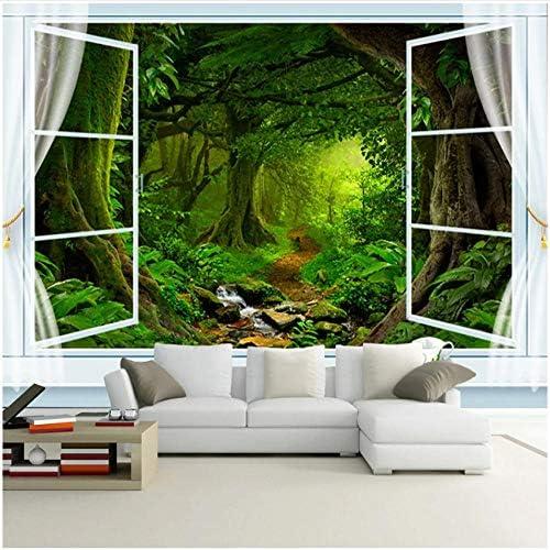 3D Green Tree Forest Landscape Mural Wallpaper