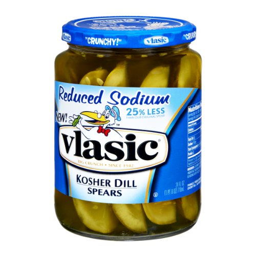 Vlasic Reduced Sodium Kosher Dill Spears Pickles