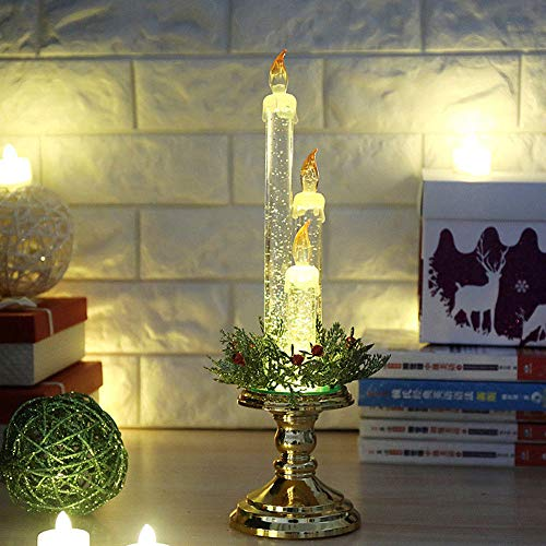 Accord Gold (LtrottedJ Party Decoration Light Candle Home Flameless Electronic Props Christmas Gift (gold))
