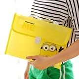 Kid's Document File Carry Folder with Ruler ( 1 piece ) ( Material: Plastic, size: 33.8cms x 26.5cms x 4cms, Colour:as per availability)