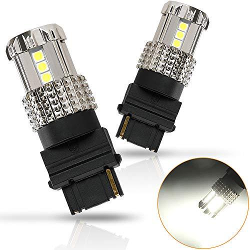 D-Lumina 3156 LED Bulb Brake Light White,Extremely Bright 3056 3356 4156 T20 Error Free 6000K 1200 Lumens 15-SMD 3030 Chipsets For RV Camper Light,Stop/Tail Lights,Backup Reverse Lamp,2-Pack