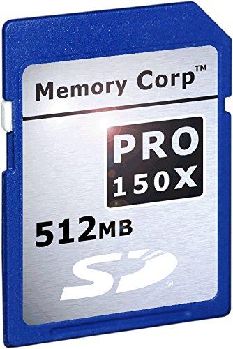 Memory Corp 512 MB Pro X SecureDigital Card (SDC) X150 0.5GB ...