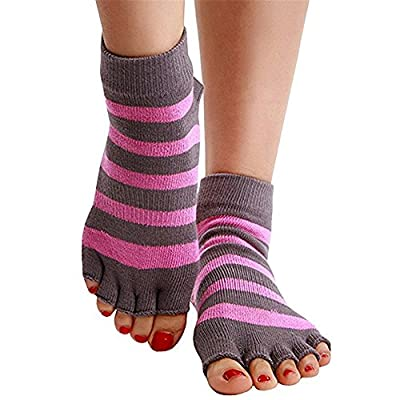 Women's Yoga Grip Socks for Pilates Ballet Barre Toeless & Non-slip