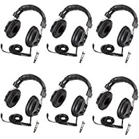 Califone 3068AV Switchable Stereo/Mono Headphones 6-Pack Bundle