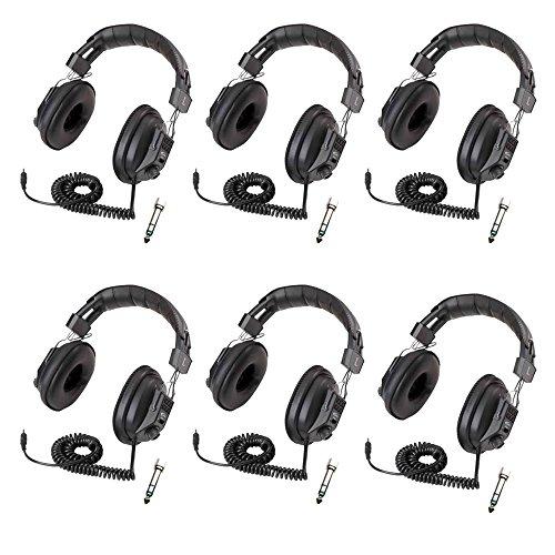 Califone 3068AV Switchable Stereo/Mono Headphones (6-Pack Bundle)
