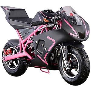 Go-Bowen 40cc Gas Pocket Bike - Mini Motorcycle - Pink